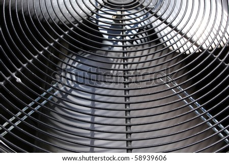 External Air Conditioner Unit for Industrial Background - stock photo
