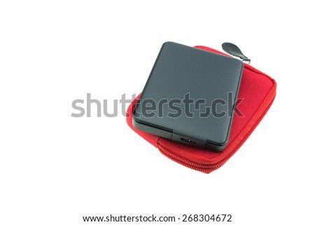 External hard disk isolated on a white background