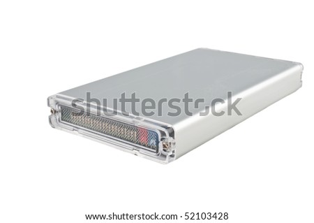 external 2.5 inch external  hard disk drive isolated  on white