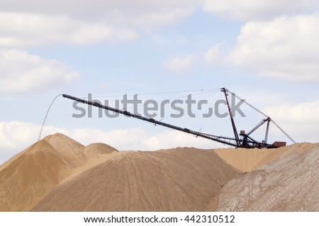 extraction of the potassium salt of - stock photo