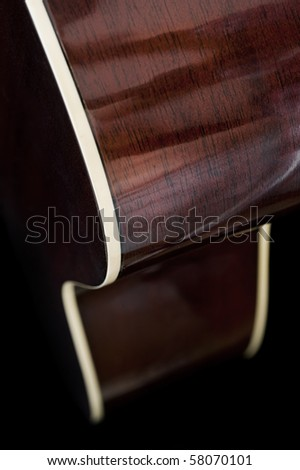 Extreme close up image of a guitar with abstract look