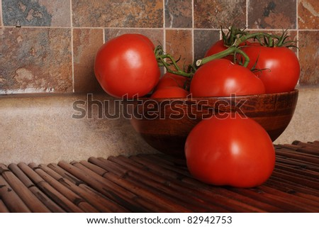 Extreme close-up image of fresh tomatoes