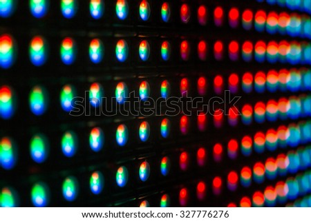 Extreme close up macro of LED SMD cristal - close up background