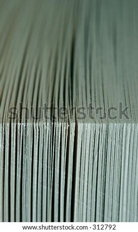 Extreme close-up of a paperback novel - stock photo