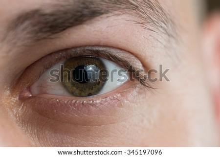 Extreme Closeup Shot Of A Beautiful Man Eye - stock photo