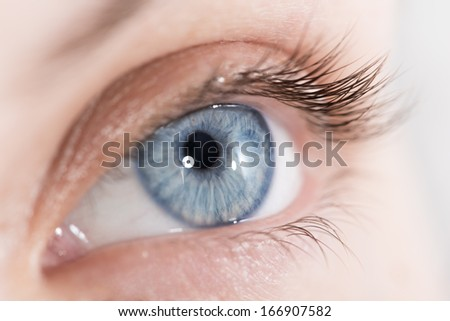 Extreme closeup shot of a beautiful woman eye - stock photo