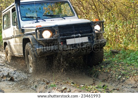 Extreme offroad mud and trail - stock photo