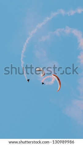 extreme paragliding - stock photo