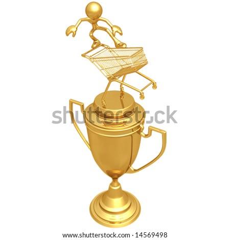 Extreme Shopping Trophy - stock photo