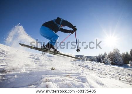 Extreme ski - stock photo