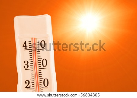 Extreme summer heat - stock photo