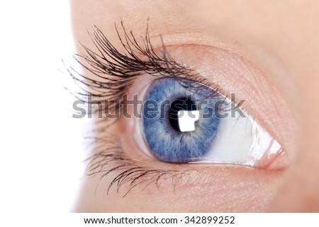 Eye. - stock photo
