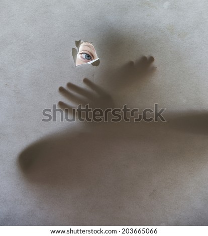 eye and shadows - stock photo