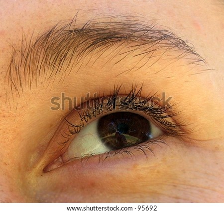 Eye closeup - stock photo