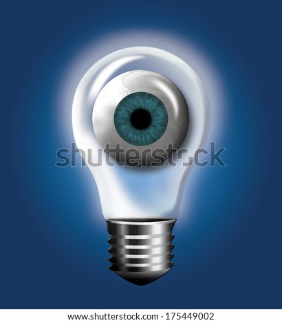 EYE dea - stock photo