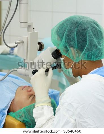 eye doctor - stock photo