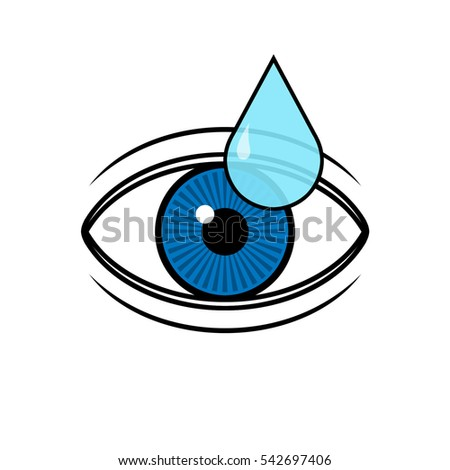 Eye drop applies to eye icon