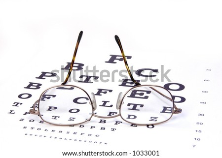 Eye Exam - stock photo