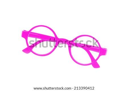 Eye glasses frame isolated on white background. - stock photo