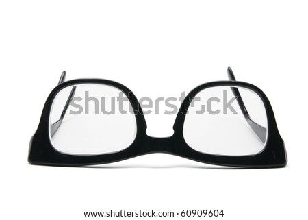 Eye Glasses on White Background - stock photo