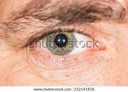 eye. macro - stock photo