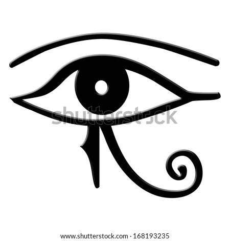 Eye Horus Eye Horus Ancient Egyptian Stock Illustration 168193235