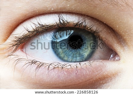 eye of the child - stock photo