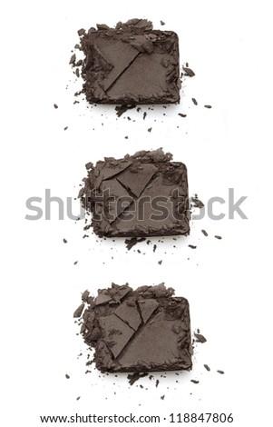 Eye shadow crushed on white - stock photo