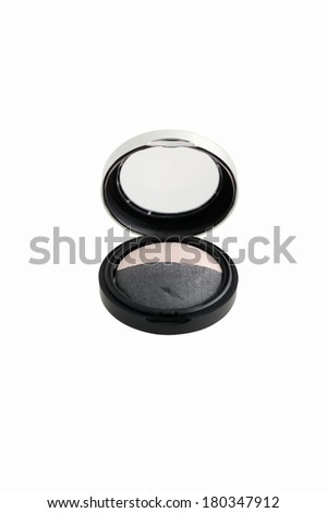 Eye shadow on white backgrounds - stock photo