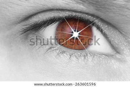 Eye shining - stock photo
