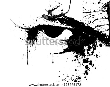 Eye splash - stock photo