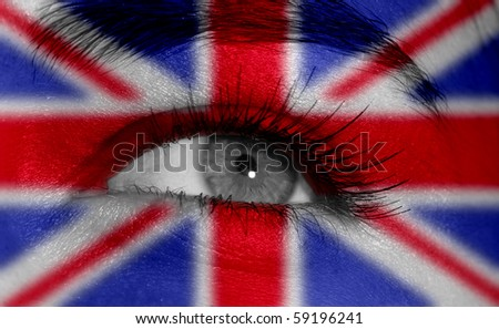eye with flag