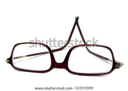 eyeglass isolated on white - stock photo