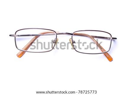 eyeglasses isolated on white background - stock photo