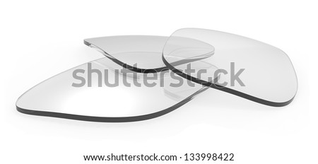 Eyeglasses lenses - stock photo