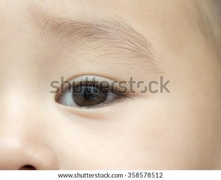 eyes baby close-up - stock photo