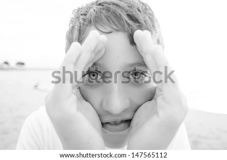 Eyes of a Child - stock photo