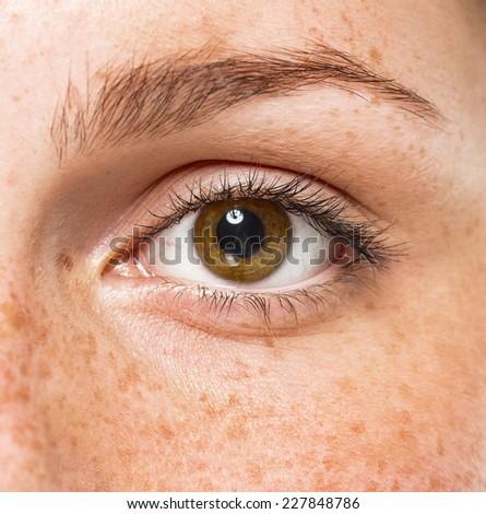 eyes woman studio  - stock photo