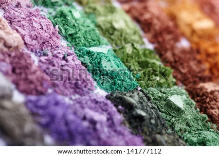 Eyeshadows set - stock photo