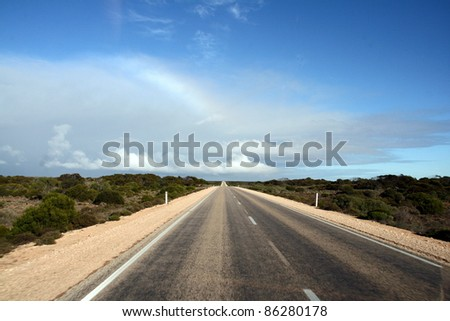 Eyre Highway, Australia - stock photo