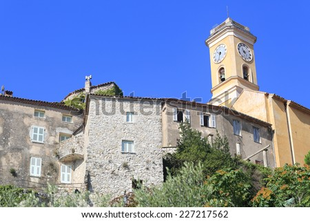 Eze church - stock photo
