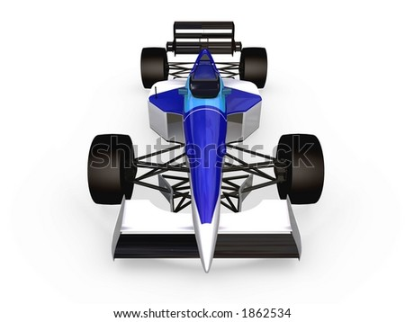 F1 blue racing car vol 2 - stock photo