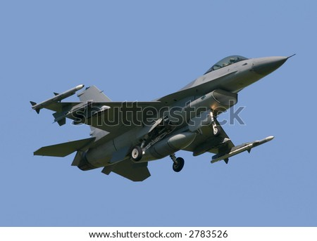 F-16 Fighting Falcon - stock photo