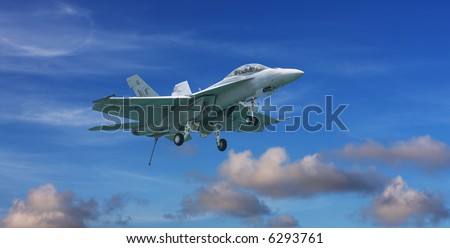 F-18 Hornet Fighter Jet - stock photo