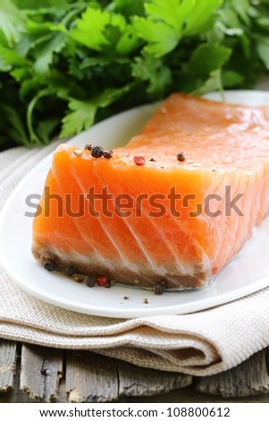 f red fish salted salmon
