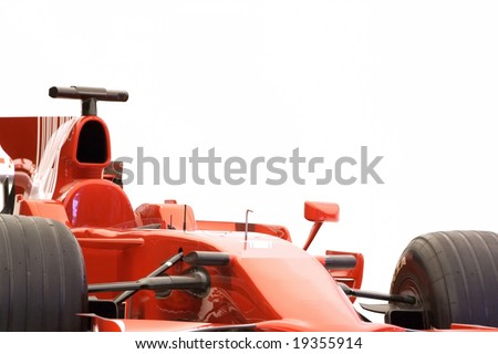 F1 sport car racing - stock photo