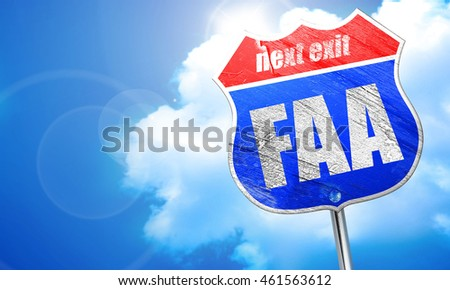 faa, 3D rendering, blue street sign