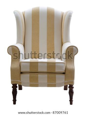 Fabric arm chair - stock photo