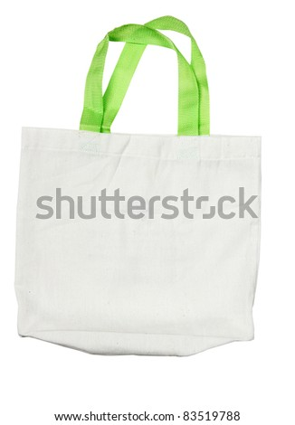 Fabric bag isolate on white background - stock photo