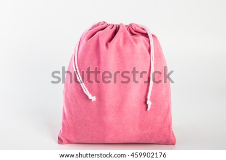Fabric bag isolated on white background, reduce global warming